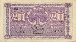 20 Markkaa FINLANDE  1939 P.071a TTB