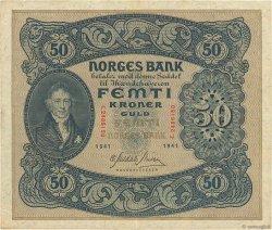 50 Kroner NORVÈGE  1941 P.09d TTB