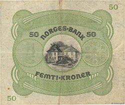 50 Kroner NORVÈGE  1942 P.09d TTB