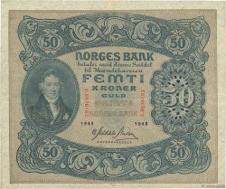 50 Kroner NORVÈGE  1943 P.09d TTB