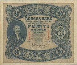 50 Kroner NORVÈGE  1944 P.09d TTB