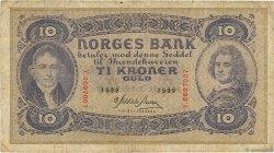 10 Kroner NORVÈGE  1939 P.08c B