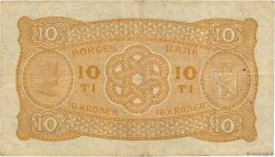 10 Kroner NORVÈGE  1942 P.08c TB