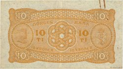 10 Kroner NORVÈGE  1943 P.08c TTB