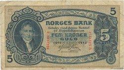5 Kroner NORVÈGE  1942 P.07c B
