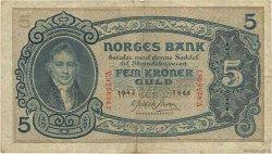 5 Kroner NORVÈGE  1943 P.07c TB