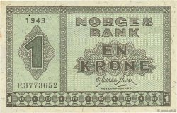 1 Krone NORVÈGE  1943 P.15a TTB