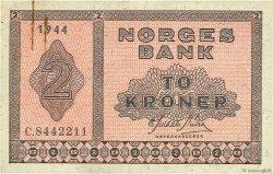 2 Kroner NORVÈGE  1944 P.16a1 TTB