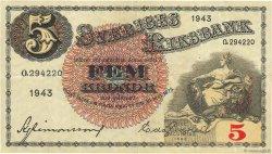 5 Kronor SUÈDE  1943 P.33z TTB