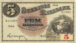 5 Kronor SUÈDE  1944 P.33aa TTB