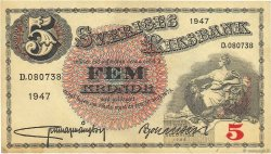 5 Kronor SUÈDE  1947 P.33ad TTB