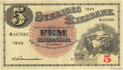 5 Kronor SUÈDE  1949 P.33af TTB