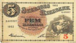 5 Kronor SUÈDE  1952 P.33ai TTB
