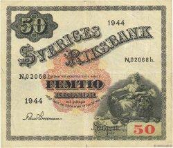50 Kronor SUÈDE  1944 P.35z TB