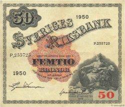 50 Kronor SUÈDE  1950 P.35ae TB+