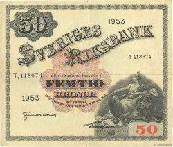 50 Kronor SUÈDE  1953 P.35af TB