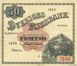 50 Kronor SUÈDE  1953 P.35af TB+