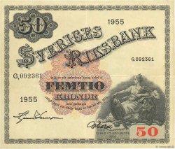 50 Kronor SUÈDE  1955 P.44a TTB