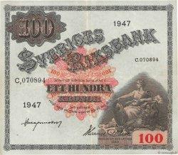 100 Kronor SUÈDE  1947 P.36ac TTB