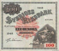 100 Kronor SUÈDE  1948 P.36ad pr.TTB