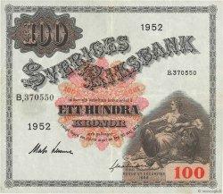 100 Kronor SUÈDE  1952 P.36ah pr.TTB
