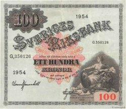100 Kronor SUÈDE  1953 P.36aj pr.TTB