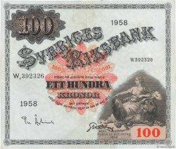 100 Kronor SUÈDE  1958 P.45d pr.TTB