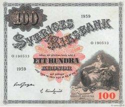 100 Kronor SUÈDE  1959 P.48a TTB+