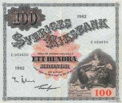100 Kronor SUÈDE  1962 P.48d TTB