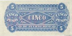5 Pesos PORTO RICO  1880 PS.101a SPL+