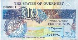 10 Pounds GUERNESEY  1991 P.54a pr.NEUF