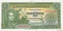 5 Pesos Oro COLOMBIE  1953 P.399a pr.NEUF