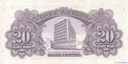 20 Pesos Oro COLOMBIE  1953 P.401a pr.NEUF