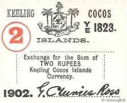 2 Rupees ÎLES KEELING COCOS  1902 P.S127 SPL
