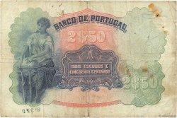 2 Escudos 50 Centavos PORTUGAL  1920 P.119 B+