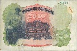 2 Escudos 50 Centavos PORTUGAL  1920 P.119 TB à TTB