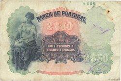 2 Escudos 50 Centavos PORTUGAL  1920 P.119 TB