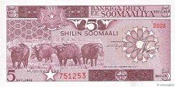 5 Shilin = 5 Shillings SOMALIE  1983 P.31a NEUF