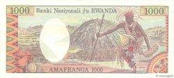 1000 Francs RWANDA  1978 P.14a SPL