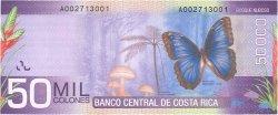 50000 Colones COSTA RICA  2009 P.279 NEUF