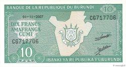 10 Francs BURUNDI  2005 P.33e NEUF