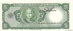 5 Colones SALVADOR  1976 P.117a pr.NEUF