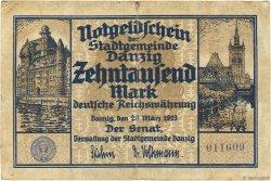 10000 Mark DANTZIG  1923 P.17 B+