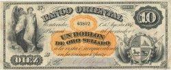 10 Pesos - 1 Doblon URUGUAY  1867 PS.385a TB