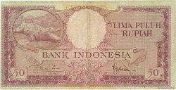50 Rupiah INDONÉSIE  1957 P.050a B