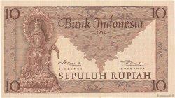 10 Rupiah INDONÉSIE  1952 P.043b NEUF