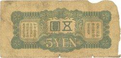 5 Yen CHINE  1940 P.M17a AB