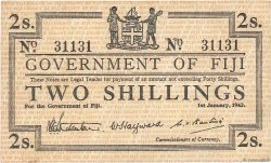 2 Shillings FIDJI  1942 P.050a TTB