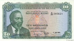 10 Shillings KENYA  1969 P.07a NEUF