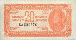 20 Dinara YOUGOSLAVIE  1944 P.051a SPL